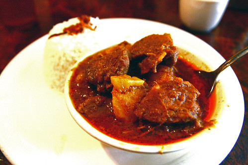 Mango Pork Curry at Spice Island Tea House