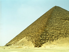 The Red Pyramid in Dahshur, Egypt (Scott Mundy) Tags: slr film analog canon geotagged pyramid egypt egyptian scanned analogue dahshur digitized eos300 redpyramid digitised sneferu northpyramid