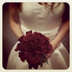 Red roses bouquet #weddings