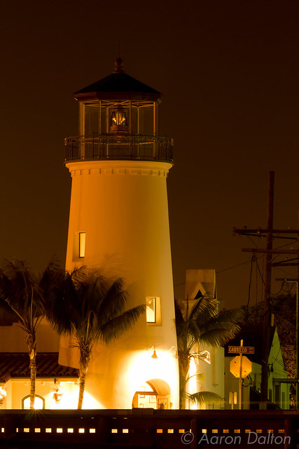 Rustys Light House in Gold Light