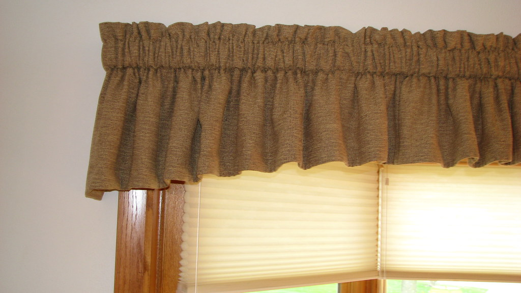 Gathered Valance & Duette Honeycomb shades