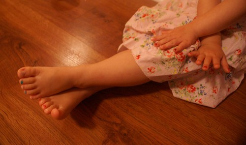 Having fun with the nail/toe nail polish
