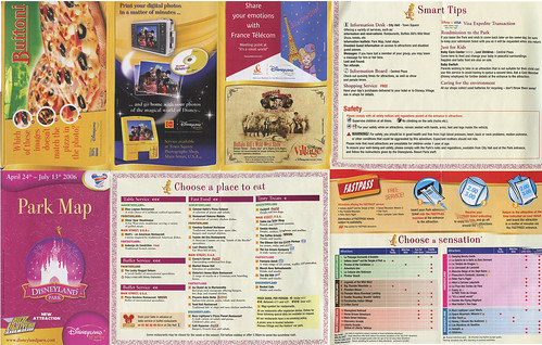 Disneyland Paris Guide Map - Back