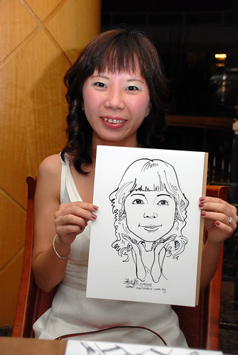 Caricature live sketching Misumi SouthEast Asia D&D 7
