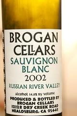 2002 Brogan Russian River Valley Sauvignon Blanc