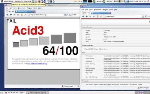 Opera 9.50 pré-béta2 sous Acid3