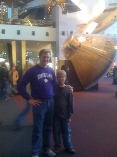 Alexander and Dad by the Apollo Capsule
