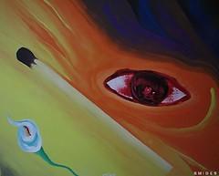 Llor ayer  2006 (Felipe Smides) Tags: chile santiago color art love colors painting happy sadness eyes tears sad arte happiness s colores sueos ojos hate pena cry felipe lagrimas hambre pinturas lagrima llorar cerillos fosforos manchas artisticexpression mywinners abigfave aplusphoto beatifulcapture colourartaward colorartaward artlegacy smides pinturasmides pinturassmides felipesmides