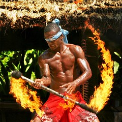 Mastering the fire, blindfolded! - Fiji (kryyslee) Tags: world pictures voyage trip travel color colors fiji canon fire photography eos photo foto blind image photos pics couleurs traditional ceremony picture images du yeux adventure master round stick around juggling juggle christophe monde 2008 backpacker amateur pict baton autour couleur feu bandeau blindfolded fijian aventure aveugle jongler fidji 50d 400d diamondclassphotographer flickrdiamond flickrchallengewinner megashot kryyslee christophepaquignon paquignon