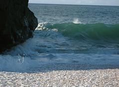 Shadow and Foam (AH in Pgh) Tags: ocean rock hawaii surf waves oahu turquoise spray pacificocean foam waimeabay breakingwave lateafternoon