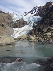 Fitz Roy - trek - glacier piedras blancas - riviere