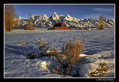 Yearning for Spring (James Neeley) Tags: snow mountains landscape spring tetons grandteton hdr grandtetonnationalpark antelopeflats 5xp moultonbarn jamesneeley