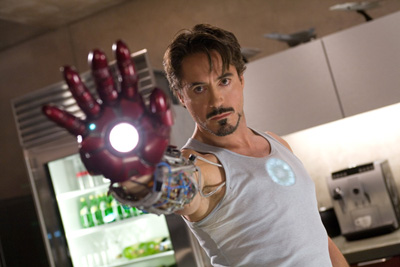 Robert Downey Jr. gets ironclad in 'Iron Man'.