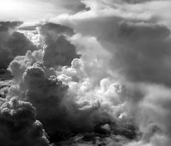 Glory (kevin dooley) Tags: bw favorite cloud white black ariel beautiful plane wow airplane interesting fantastic flickr pretty shot very cloudy good gorgeous air awesome award superior stormy super best most utata winner stunning excellent much incredible plain breathtaking exciting arial turbulence phenomenal turbulent