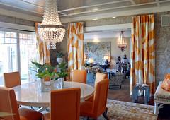 zia priven hamptons design showcase (coco+kelley) Tags: orange white modern hamptons neutral roominteriordesign
