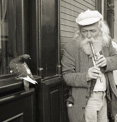 The Flutist (ddindublin) Tags: street ireland portrait people blackandwhite bw musician music dublin irish white black art monochrome smile musicians photography artist affection wind pigeon candid pigeons fine arts flute anticipate entertainment musical artists instrument stunning entertainer anticipation busker visual instruments cinematic performers performer affectionate enchantment mir endearing fond enchanted empathy flutist flutes expecting expectation fondness entertainers enchanting endearment top20ireland platinumphoto diamondclassphotographer flickrdiamond interesting08