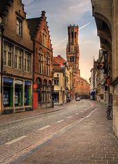 wollestraat, Bruges, Belgium  6:15 am