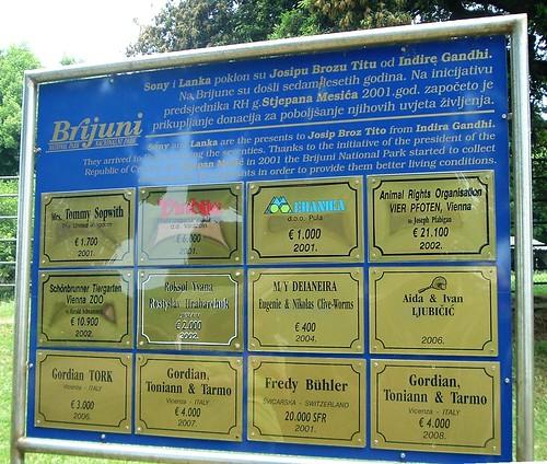Donations to improve elephant enclosure, Veliki Brijun
