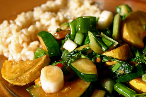 Sauteed Veggies & Brown Rice