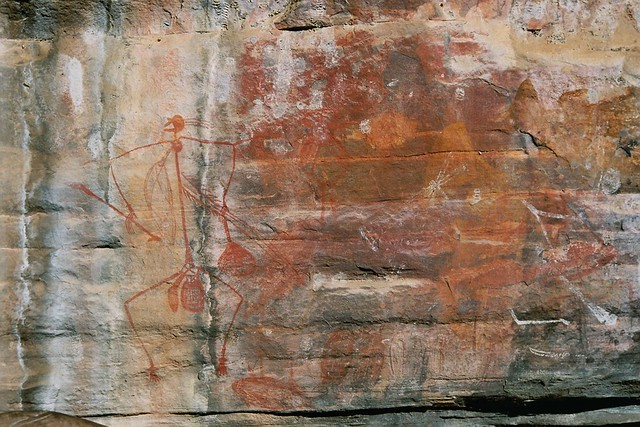 Aboriginal drawing on rock in Kakadu National Park, Australia