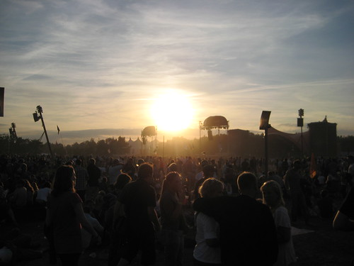 Sunset over Orange Stage