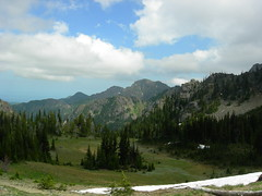 View looking back east from Marmot Pass