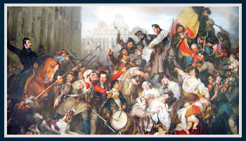 Episode of the Belgian Revolution of 1830, by Egide Charles Gustave Wappers