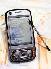 我的 blog 在 mobile 裝置上顯示的效果,直式