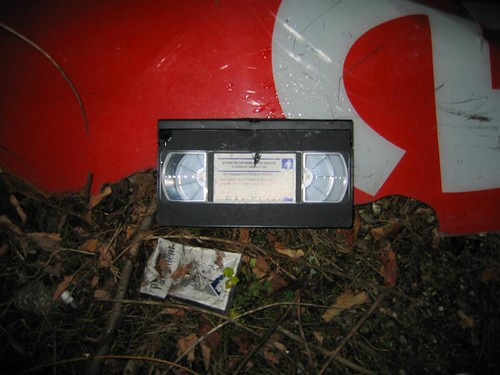 Discarded VHS video
