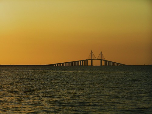 Sunshine Skyway Bridge St Pete Fl USA