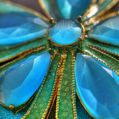 b3547_5_6: Macro Jewels (tengtan (away awhile)) Tags: blue macro green gold close stones brooch gems hdr jewel broach thursdaychallenge moodymonday magnification covetous 500x500 abigfave auselite goldstaraward tengtan uniquechallenge 40ask amazingamateurask