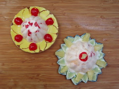 Pineapple gelatin dessert- birdseye (Home Deconomics) Tags: 1950sfood pineapplebavarian gelatindessert