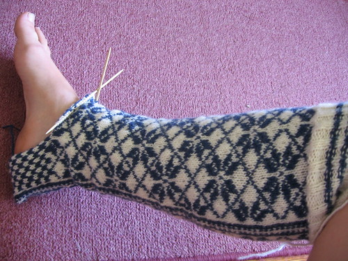 Norwegian stockings in progress