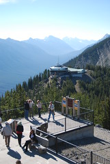 Banff29 Looking back a the Gondola landing (sonjakastner) Tags: banff johnstoncanyon banffgondola