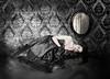 . (mylaphotography) Tags: wallpaper reflection art dark mirror persian makeup damask mylaphotography rahijaber mahlagha modelmysister