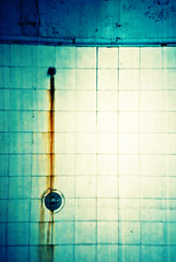 Rusty Showerhead (Cormac Phelan) Tags: ireland dublin abandoned film 35mm shower seaside lomo lca lomography rust lka decay swimmingpool baths derelict phelan cormac dunlaoghaire rainbowrapids