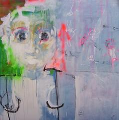 nia (2006) Tcnica mixta sobre tela 150 x150 cm (mariana gabor) Tags: no calma muestra