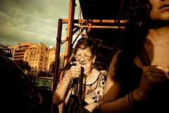 (Victoriano) Tags: barcelona street travel sunset summer people shadows bcn society barna thestreet
