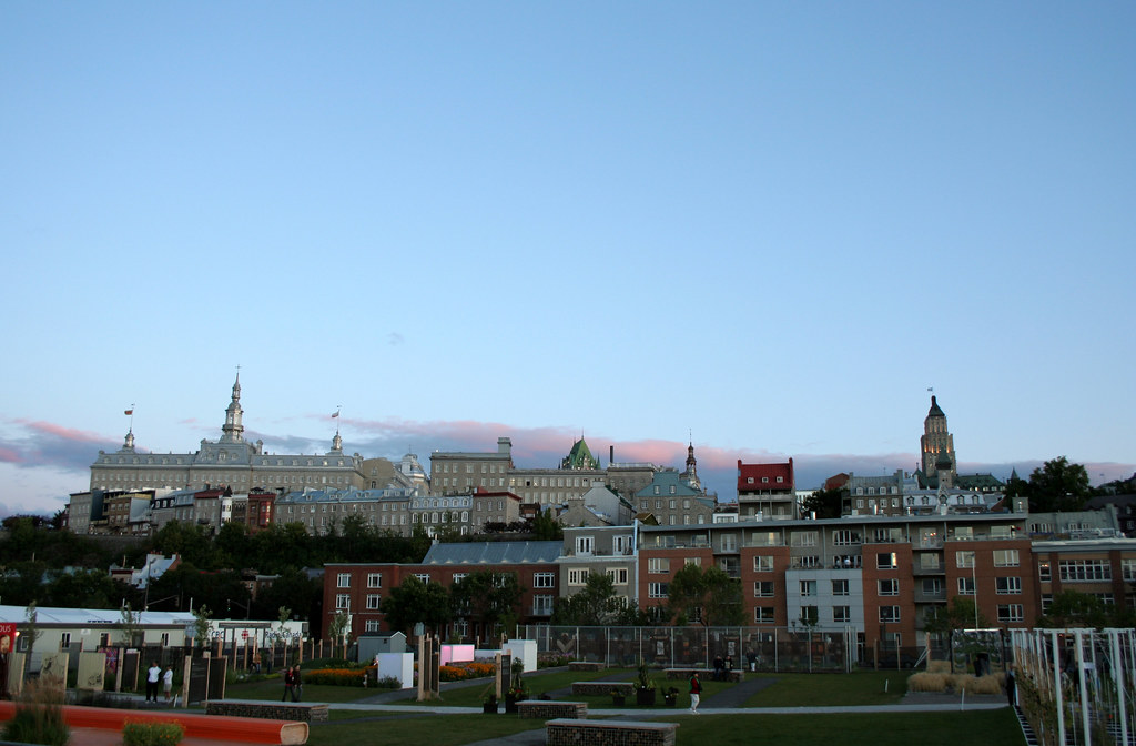 Espace du 400e, Vieux Québec, vue du Bassin Louise