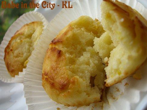 Citrus Yoghurt Muffins - inside
