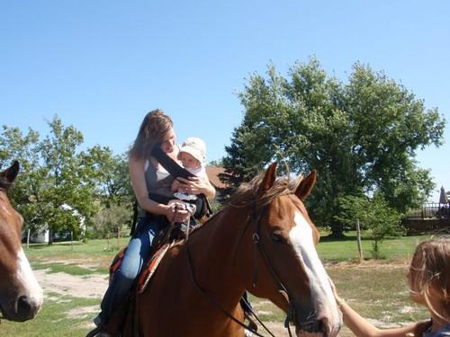 Fay rides a horse!