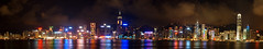 Hong Kong Island Panorama (lowell.ling) Tags: china nightphotography reflection tourism skyline night buildings hongkong colorful view heart d70 famous central visit tourist hong kong awards ifc hsbc causewaybay tst attraction panaroma victoriahabour habour bankofchina wanchai aplusphoto colourartaward