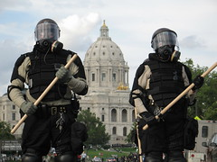 RNC riot cops at St. Paul, MN capitol building, 4 Sept 2008 (flyingmonkeyair) Tags: building saint minnesota st paul riot cops protest 4th police september capitol national convention republican 2008 protesters rnc