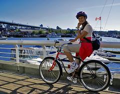 Vancouverite? (uteart) Tags: canada vancouver vintage bc falsecreek vintagebike biketrip utehagen uteart