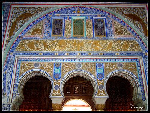 Reales Alcazares (Salon de los Pavones o Techo de Felipe II.)