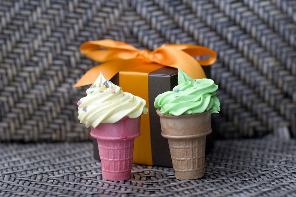 Cupcake cones from Lenox Cupcakes