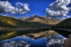 Clinton Creek Lake, Colorado (Thad Roan - Bridgepix) Tags: blue autumn trees sky mountain lake reflection fall water clouds forest colorado foliage explore climax clintongulch specialtouch 200809 goldstaraward clintoncreek