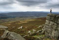 England, Peak District: Exhilarating (Tim Blessed) Tags: uk sky nature clouds landscapes countryside scenery rocks peakdistrict cliffs hills moor singlerawtonemapped