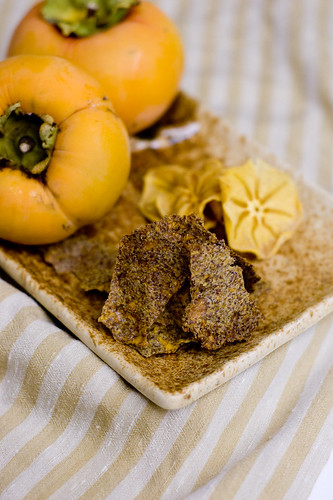 At Home: Flax Persimmon Chips, Sliced Persimmon Chips