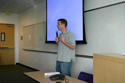 David Filo talks to Yahoo frontend engineers last week at Yahoo HQ in Sunnyvale, CA.